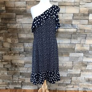 A New Day Blue And White polka dot dress